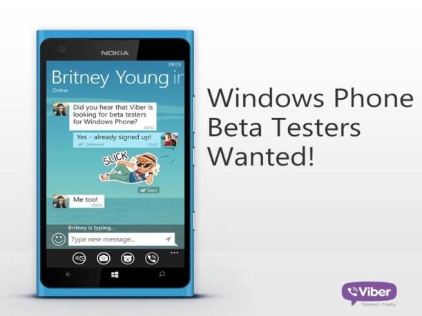 Viber beta testers Windows Phone