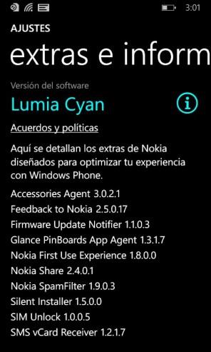 Lumia Cyan, información