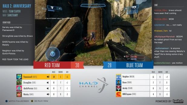 Retrasmisión en Halo Channel