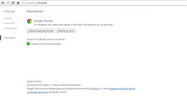 Google Chrome 37 64 bits