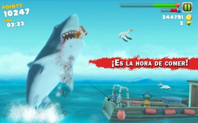 ¡Es la hora de comer! en Hungry Shark Evolution