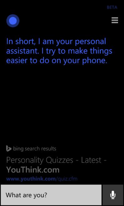 ¿Que eres tu Cortana?
