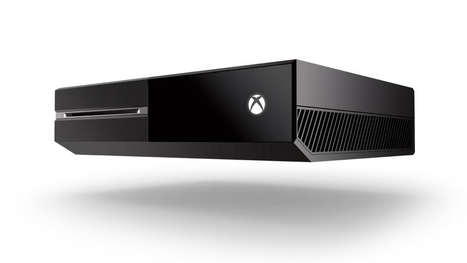 Xbox One negra vista desde la derecha