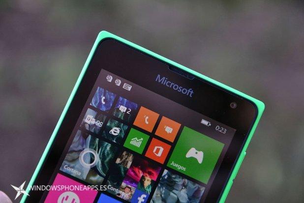 lumia 435 detalle pantalla de inicio