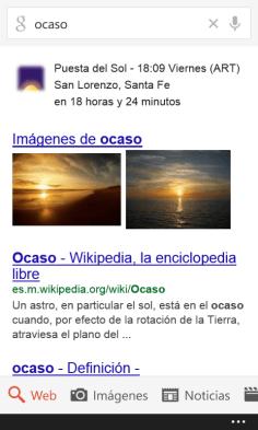 google ocaso