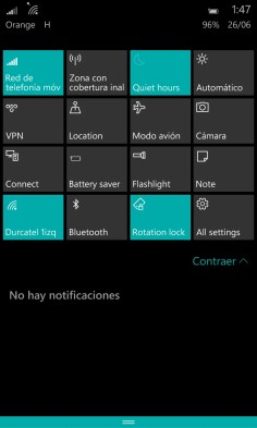Capturas Build 10149 de Windows 10 Mobile