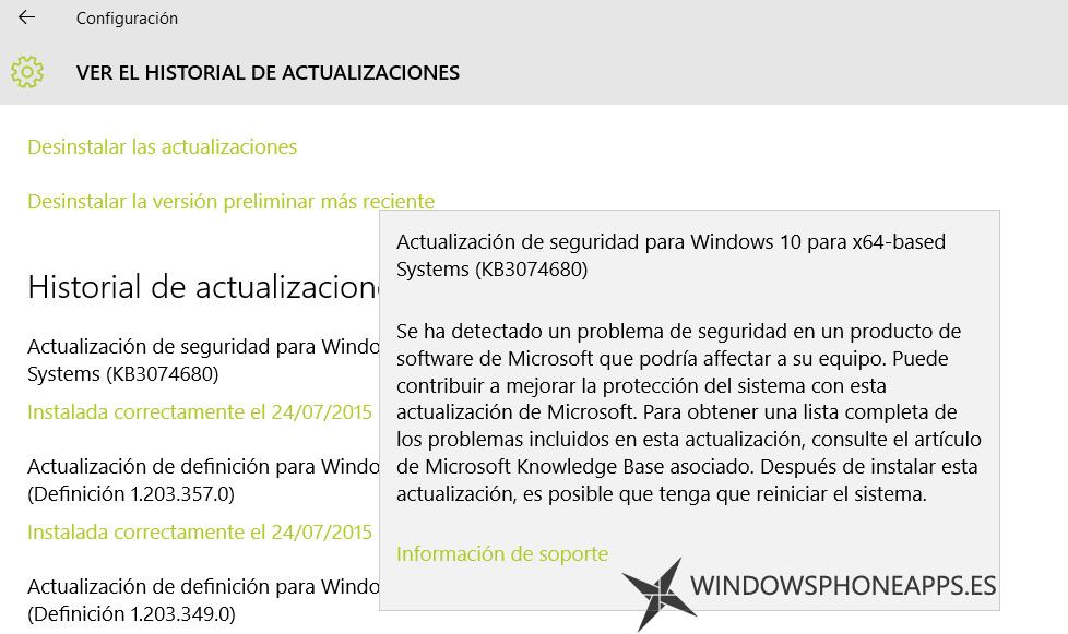 seguridad windows 10 update