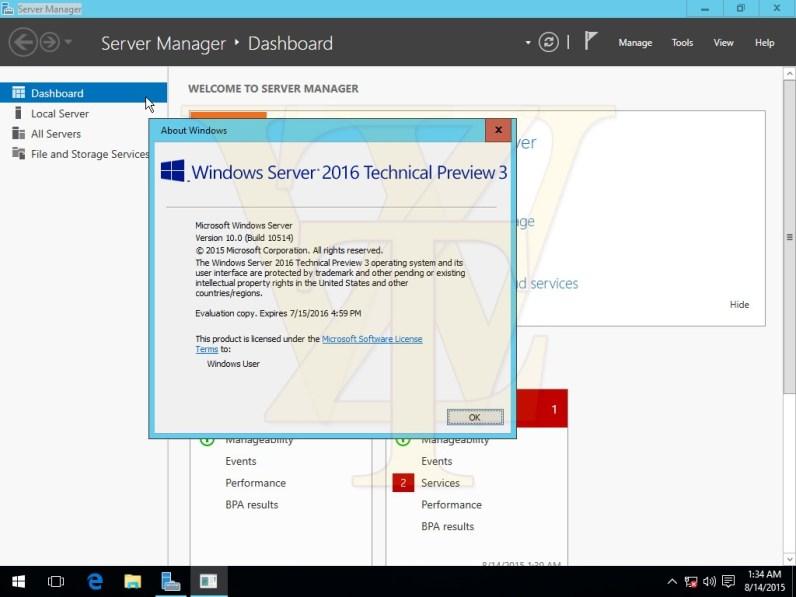 Windows Server 2016 build 10514 1