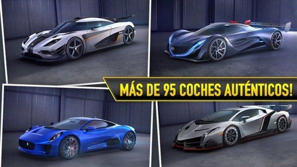 Más de 95 coches auténticos en CSR Racing