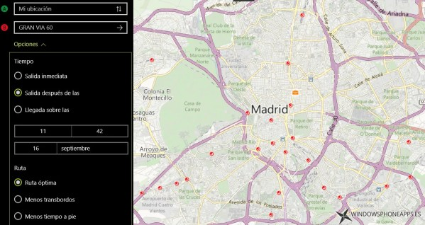 mapas de Windows 10 configuracion