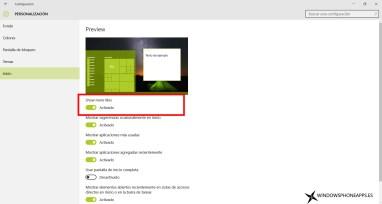 menu configuracion windows 10 build 10547