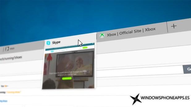 Previsualización de pestañas en Microsoft Edge