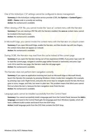 Notas de lanzamiento de la Build 10540 de Windows 10 PC - Página 9