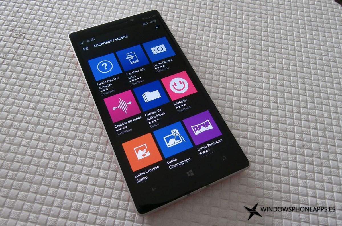 Aplicaciones Lumia en la tienda de Windows 10 Mobile