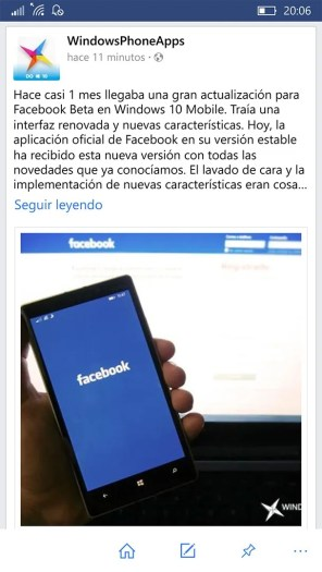 Facebook para Windows 10 Mobile (12)