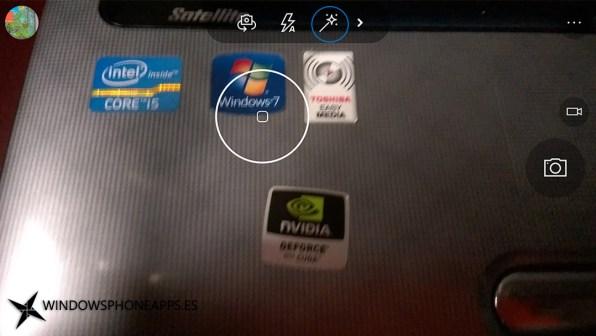 Interfaz cámara de Windows antes de actualizar