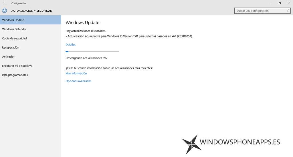 Windows 10 versión 1511 (KB3118754)