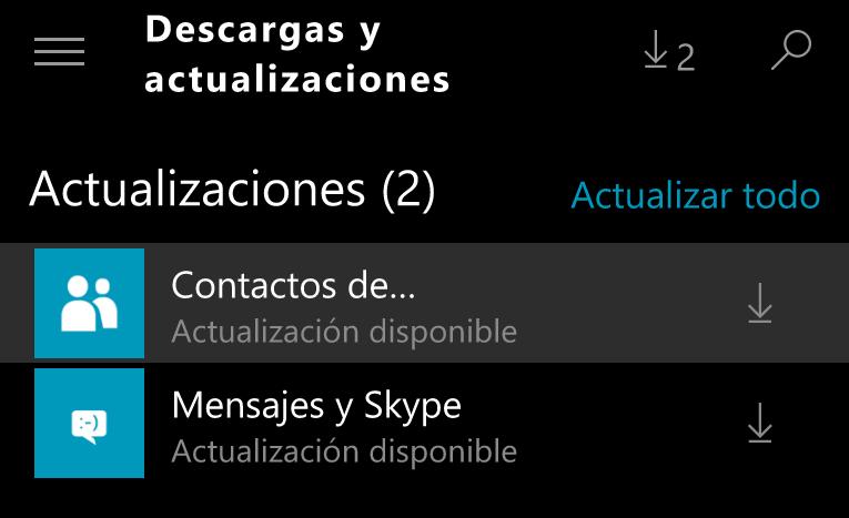 contactos y mensajes