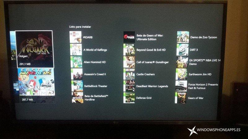 Xbox 360 en la tienda de Xbox ONE