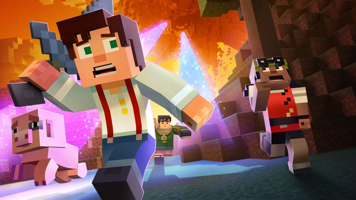 minecraft story mode A Block and a Hard Place