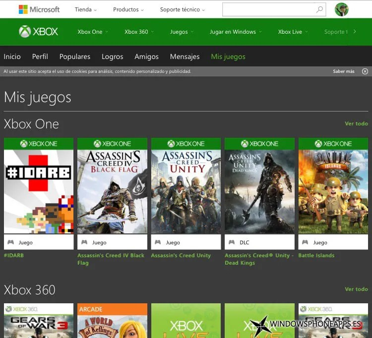 mis juegos Xbox