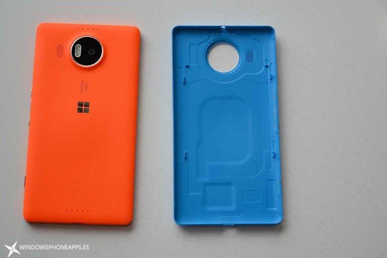 carcarsas naranja-azul lumia 950 XL