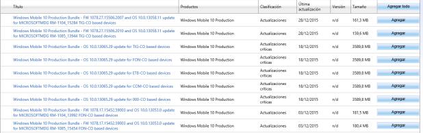 catalogo microsoft update