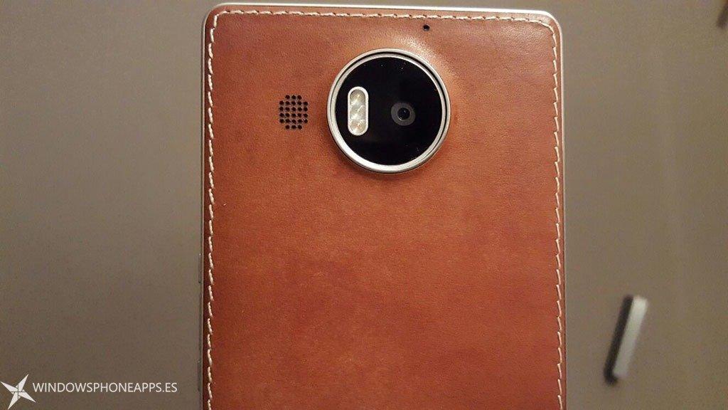 mozo carcasa cuero Lumia 950 XL