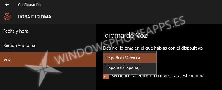 instalacion idioma mexico cortana
