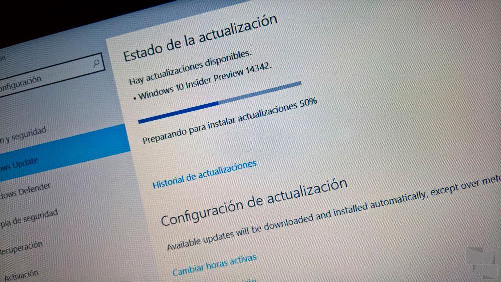 Build 14342 de Windows 10 PC Insider