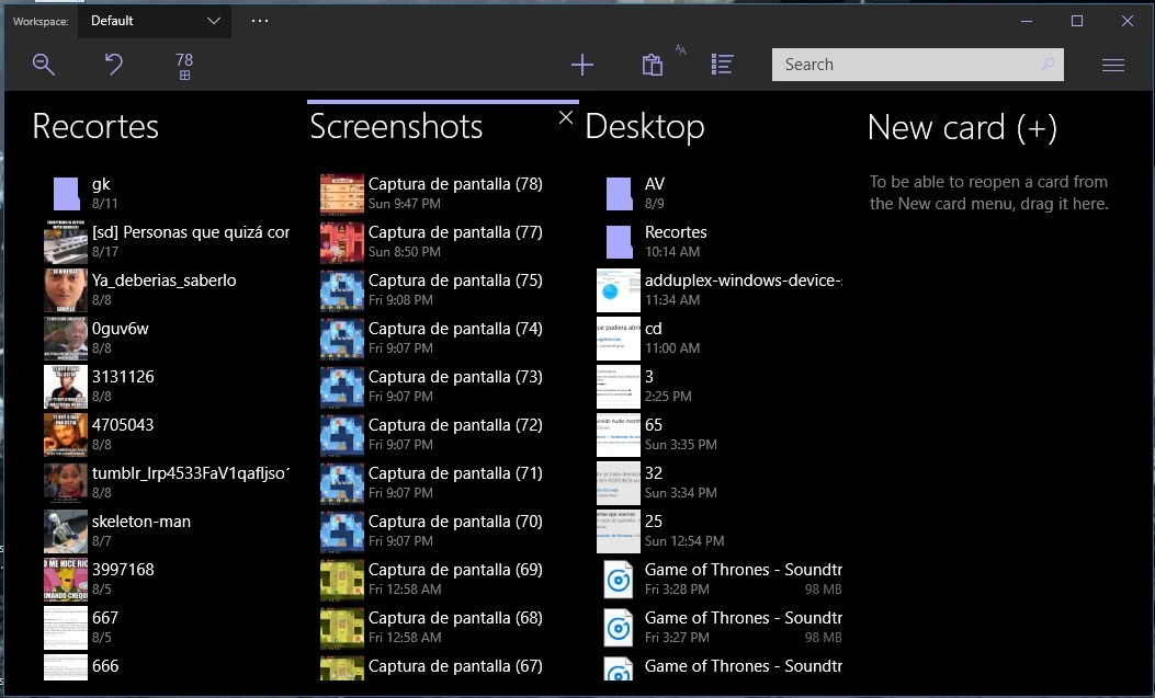 File cards Modern file manager suite (4)