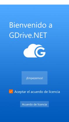 GDrive.NET Windows 10 Mobile 1