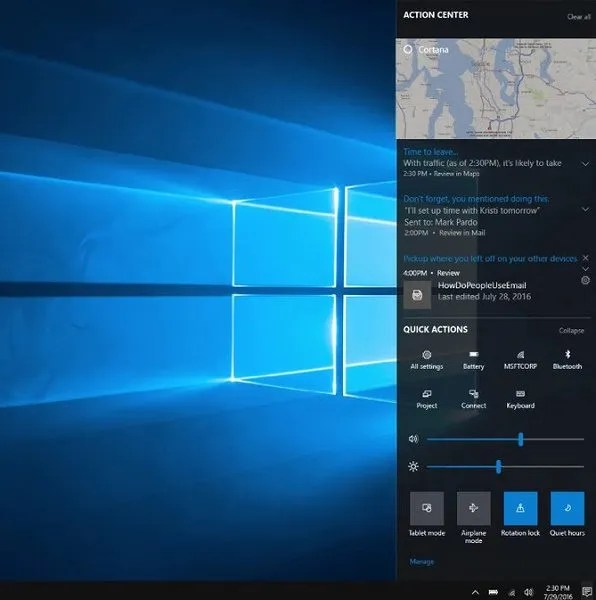 action-center-creators-update-windows-10