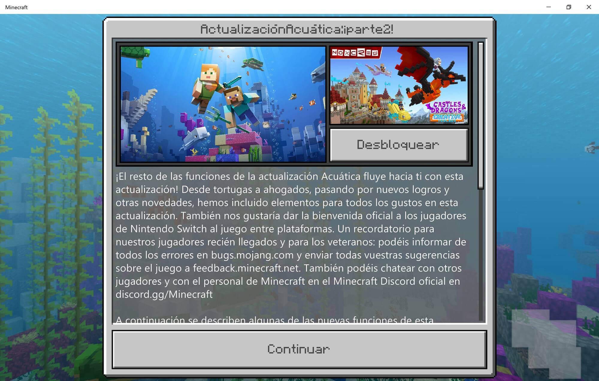 La Segunda Parte De La Actualización Acuática De Minecraft Ya Está Disponible Móvil Experto