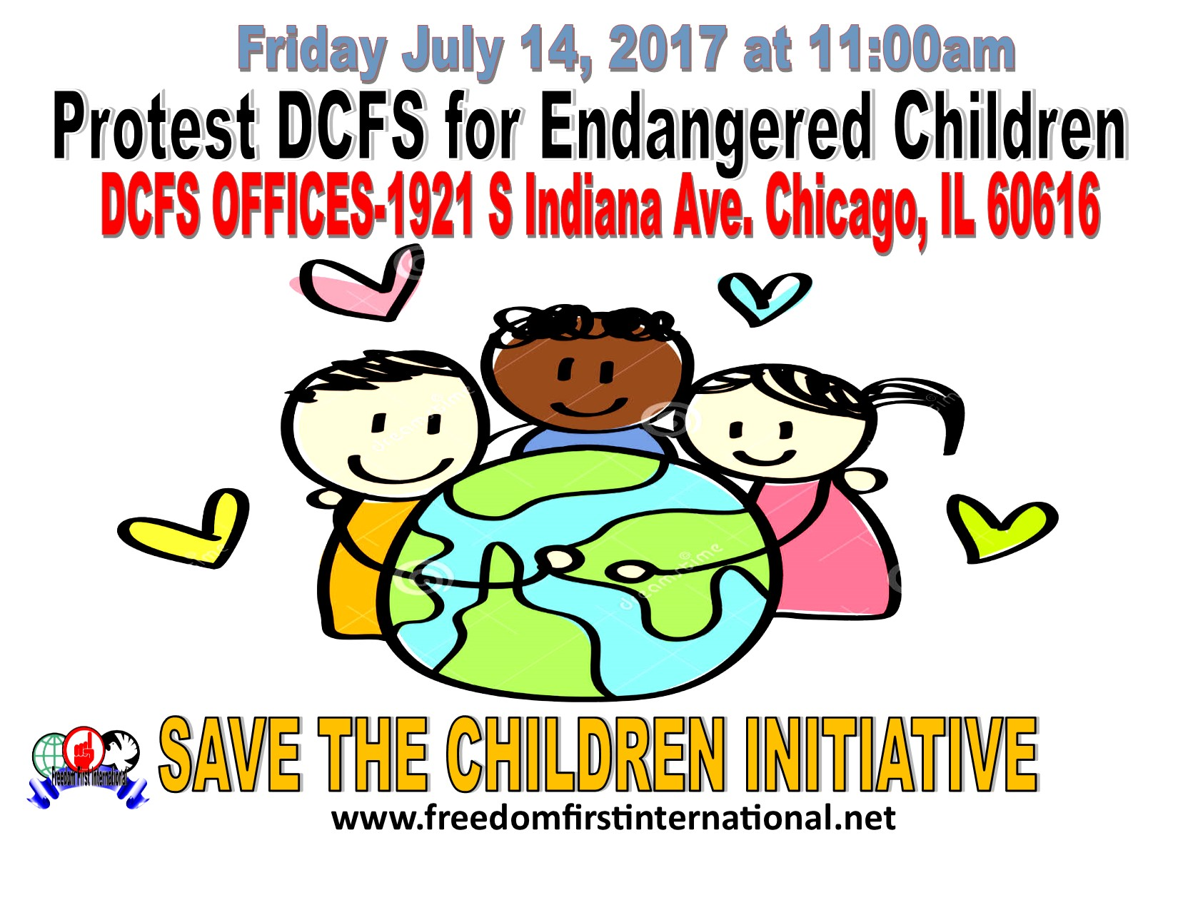 For Immediate Release: Social Justice Organizers-Protest (DCFS) call for immediate attention and investigation by Officials and immediate DCFS overhaul