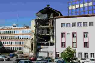 Mahnmal: Fernsehsender wurde im Balkankrieg getroffen