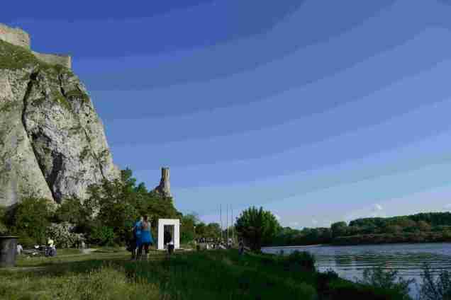 Mündung der March in die Donau kurz vor Bratislava