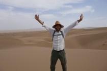 Tageswanderung durch die Wüste, ziemlich anstrengend