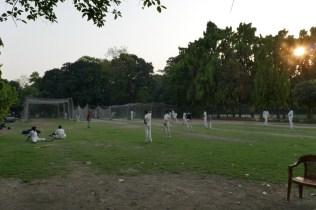 Cricket-Training im Maidan-Park