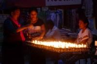 Abendstimmung an der UNESCO-Welterbe Stupa Bauddhanath.