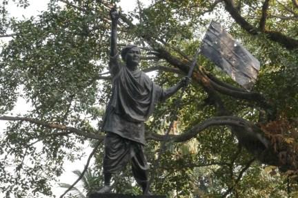 """Guwahati, Assam: Freiheitskämpfer Kushal Konwar starb 1943 in Assam als Märtyrer am Ende der Bewegung """"Quiet India Movement"""" für die Befreiung von den Briten."""