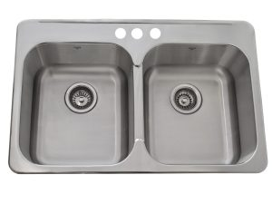 OD3120 8-3H, Stainless Steel, Drop-in, Kitchen Sink, 3 Hole