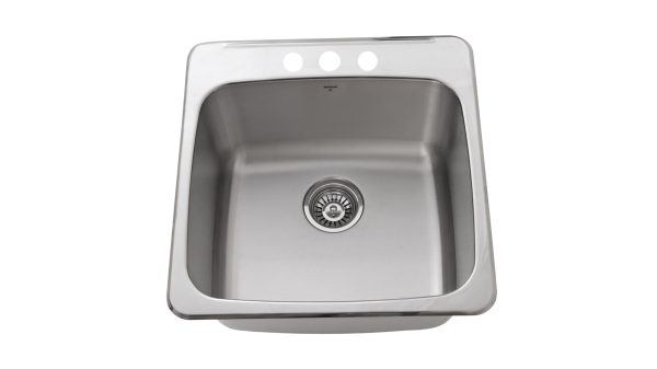OD2020 10-3H, Drop-In, Stainless Steel, 3 Hole, Kitchen Sink