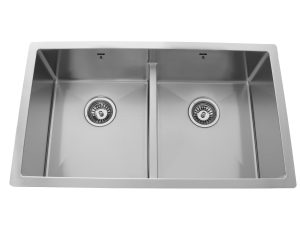 Double Bowl, Undermount, Designer, Low Divide, Stainless Steel, Onex Enterprises, Kitchen Sink in Canada