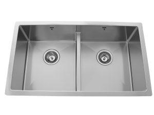 Double Bowl, Undermount, Designer, Low Divide, Stainless Steel, Onex Enterprises, Kitchen Sink in Canada