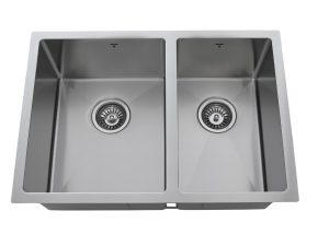 OU2618 SQR U, Uneven Double Bowl, Stainless Steel, Undermount, Onex Enterprises, Kitchen Sink in Canada