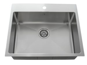 OD2520 SQR, Designer, Drop in, Single Hole, 1 Hole, Stainless Steel, Onex Enterprises, Kitchen Sinks in Canada