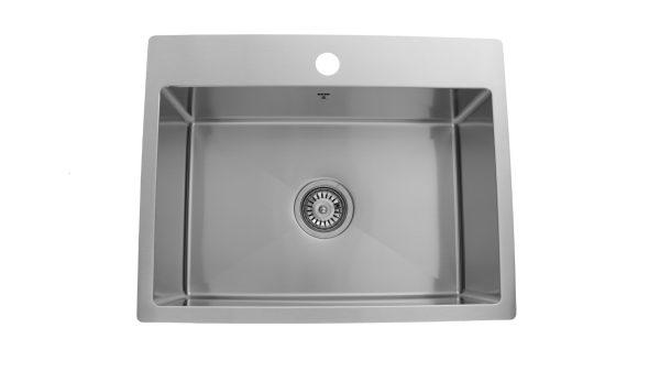 ODS2318 SQR R10, Stainless Steel, Single Bowl, Designer Collection, Onex Enterprises, Kitchen Sinks in Canada