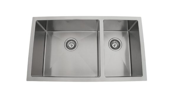 OU3218 SQR U, Uneven, Double Bowl, Stainless Steel, Designer Collection, Onex Enterprises, Sinks in Canada