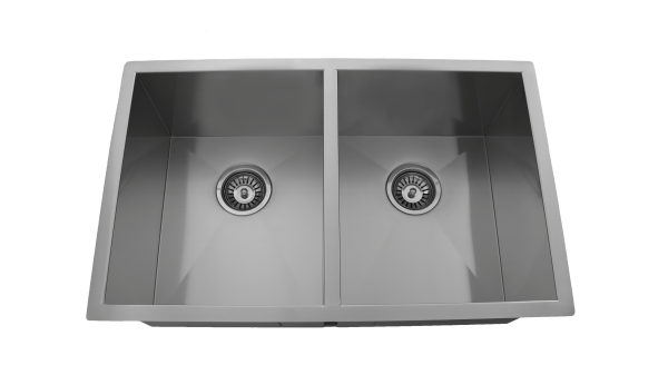 OU2918 SQ, Stainless Steel, Double Bowl